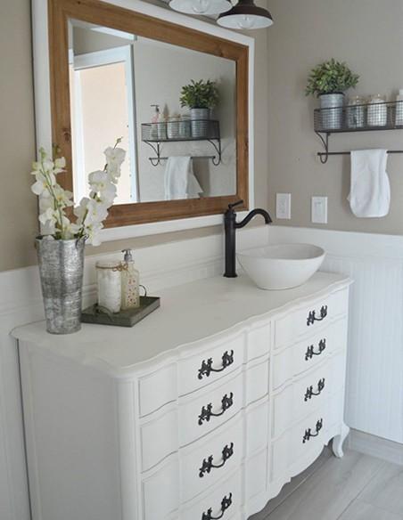 Muebles de baño vintage y neoclásicos